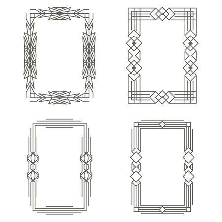 Art Deco vintage frames. The borders. Vector graphics