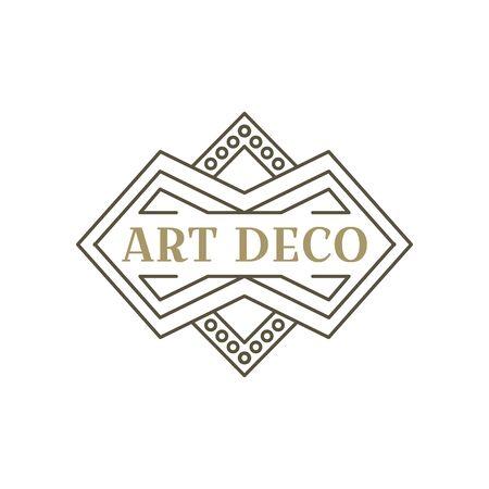 Art deco logo. Vintage label design. Retro badges. Vector image. Foto de archivo - 144464860