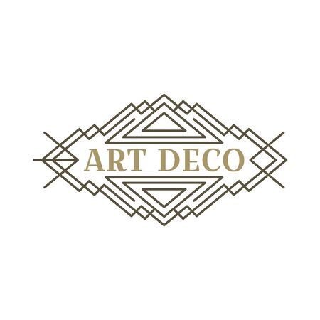 Art deco logo. Vintage label design. Retro badges. Vector image. Foto de archivo - 144464843