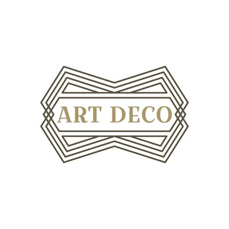 Art deco logo. Vintage label design. Retro badges. Vector image. Foto de archivo - 144464864