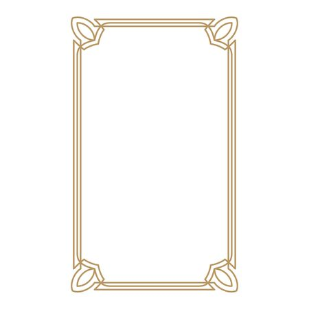 Vintage frame border. Decorative frames. Border for greeting card or other design. Vector.