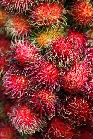deatil: Deatil of Rambutan tropical fruit
