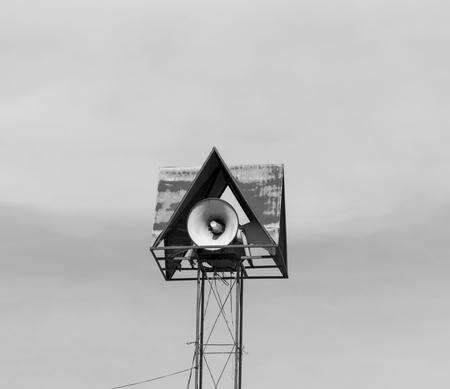 loudspeaker: Old loudspeaker Stock Photo