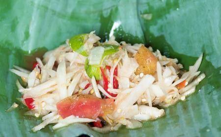 peppery: green papaya salad