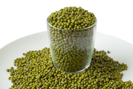 mung: mung bean coin in glass