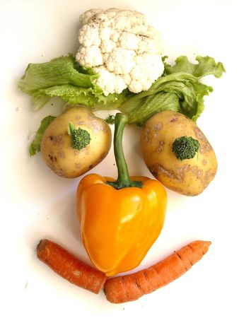 natural face: Vegetable Face Stock Photo