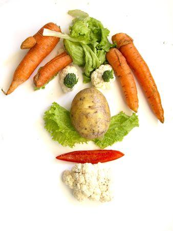 frutas divertidas: Cara de verduras