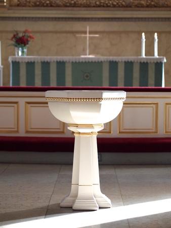 Fonte Battesimale nella Cattedrale di Helsinki Editoriali