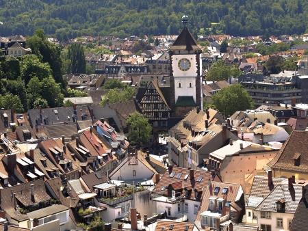 freiburg: Town Freiburg im Breisgau in Germany Stock Photo