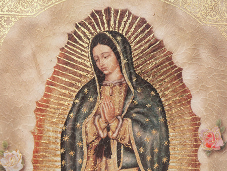 A painting of Our Lady of Gualalupe photo