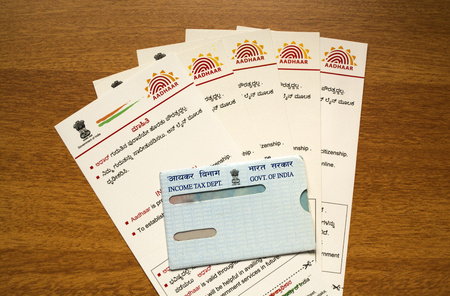 Aadhar card and pan card which is issued by Government of India as an identity card.