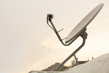 Installed Satellite dish or DTH or Direct to home tv on the roof