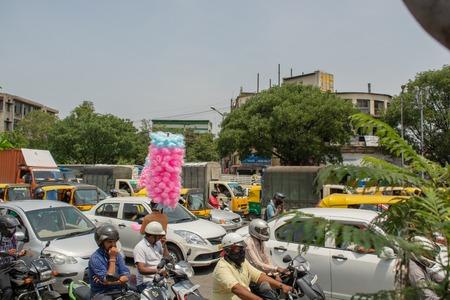 Bangalore, Karnataka India-June 04 2019 : Bengaluru city traffic near town hall, Bengaluru, India Editorial