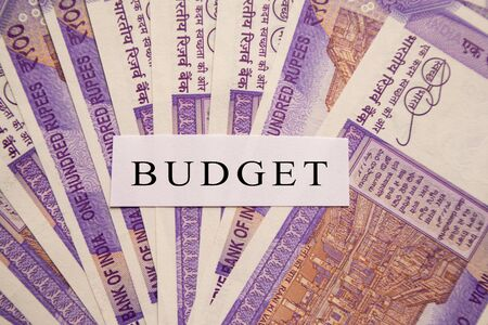 Budget printed on New Indian currency notes.