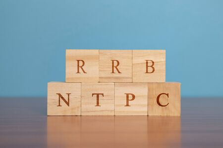 Concpet showing of RRB NTPC or Railway Recruitment Board Non Technical Popular Categories exam conducted in India for recruitment in Indian Railway. Stock fotó