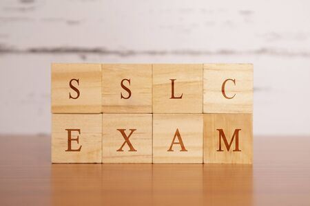 GMAT. Graduate Management Admission Test or exam in wooden block letters Stock Photo
