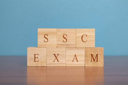 Concept of SSC or Staff Selection Commission exam for recruit staff to various posts in ministries, departments and organisations of the Government of India. Stok Fotoğraf - 129828841
