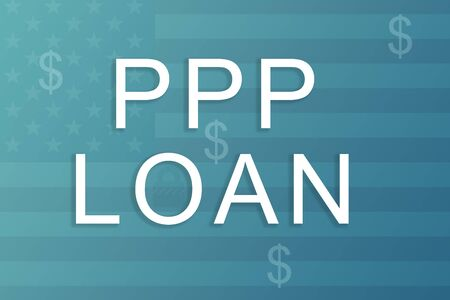 PPP or Paycheck Protection Program business loan as coronavirus or covid-19 aid concept.