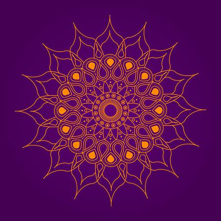 Round abstract circle. Mandala style. Çizim