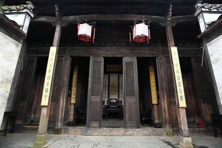 wood carvings: Wooden doors and wood carvings in Jiangxi
