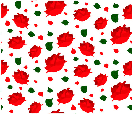 red rose seamless pattern Illustration
