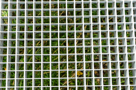metal grid structure close up Stock Photo