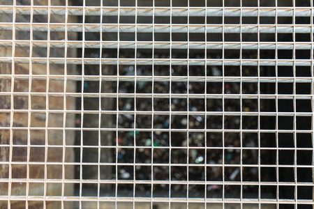 grille: metal grid structure