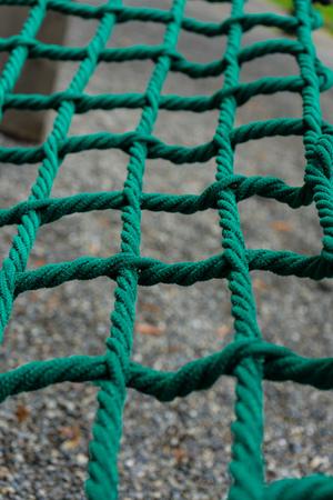 shingle seen through dark green net