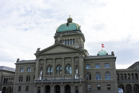 Swiss Parliament Building called Bundeshaus in Berne
