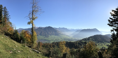 mountain layer panorama view at buergenstock lucerne switzerland