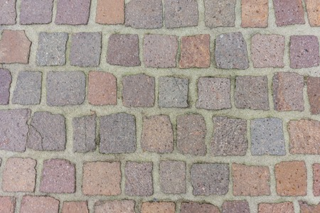 cobblestone path way with different stone colours