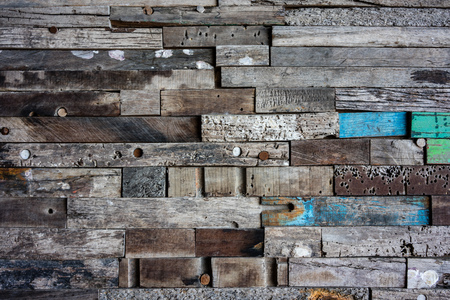 Old grungy wood wall design, close up view
