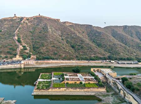 Kesar Kyari (Saffron Garden) on Maota Lake in Jaipur, Rajasthan, India.