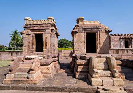 Ancient stone temple of Chalukya dynasty in Aihole, Karnataka, India.
