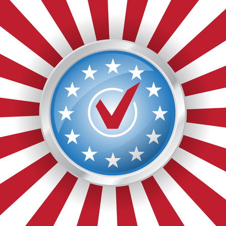 Vote USA presidential election badge