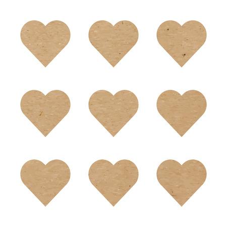 craft paper: Craft paper hearts Illustration