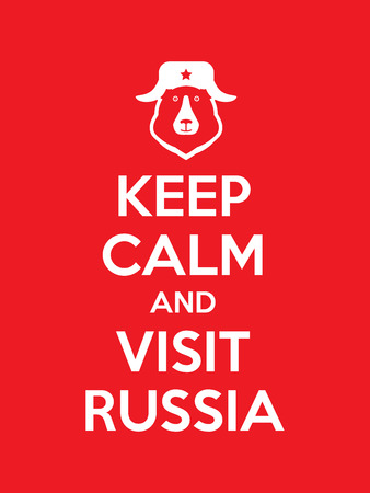 parody: Keep calm and visit Russia red poster