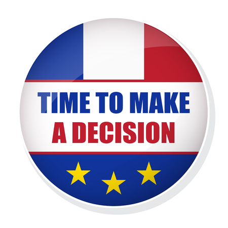 Time to make a decision pin badge