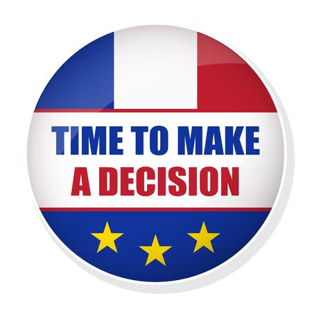 overtake: Time to make a decision pin badge