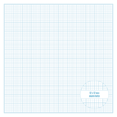 Vector Blue Dotted Grid Graph Paper Seamless Pattern Printable