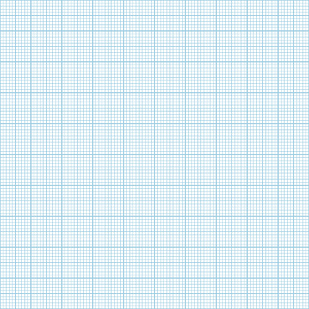 Vector blue metric graph paper seamless pattern, 1mm grid accented every centimeter