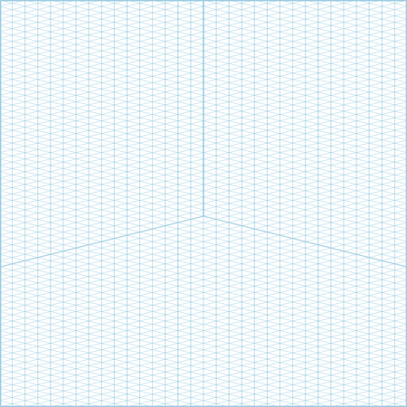 Blue Vector Isometric Grid Graph Paper Accented Every  Steps