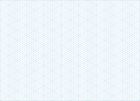 Blue Vector Isometric Grid Graph Paper Accented Every 5 Steps