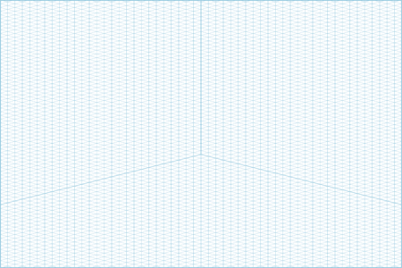 A Vector Blue Wide Angle Isometric Grid Graph Paper Horizontal Background  With Axes. Vector