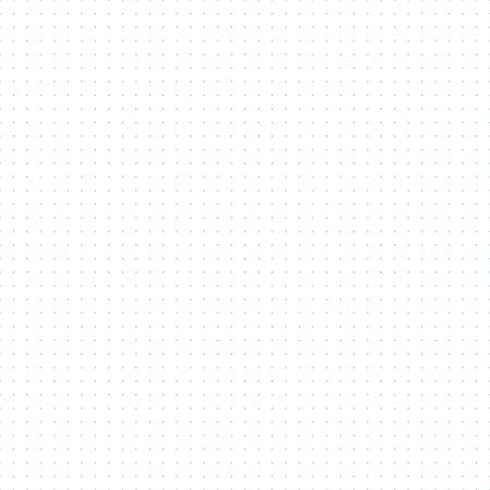 Vektor blau gepunktete Raster Millimeterpapier nahtlose Muster, bedruckbar, Punkte alle 5 mm, kann für bullet Zeitschriften verwendet werden Vektorgrafik
