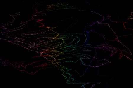 Abstract vector dark background with bright rainbow twisted lines. Vector EPS 10 Illustration