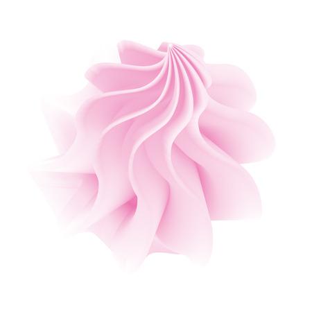 핑크 트위스트 마쉬 멜 로우 또는 먹고 가기 벡터 그림 흰색으로 격리 일러스트