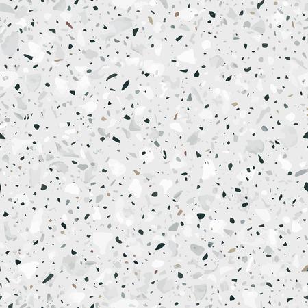 Terrazzo flooring vector seamless pattern. Classic italian type of floor in Venetian style