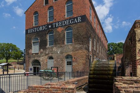 RICHMOND, VIRGINIA, USA - JUNE, 2016: Historic Tredegar building, American Civil War Museum in Richmond National Battlefield Park in Virginia