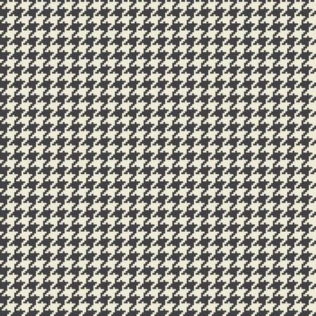 Vector houndstooth fabric seamless pattern. Textile ornament in two colors, retro fashion texture